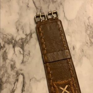 Women's leather belt brown
